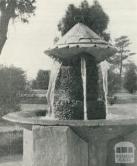 Mineral Water Fountain, Victoria Park, Sale, 1938