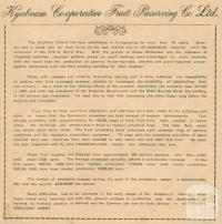 Kyabram Co-operative Fruit Preserving Co Ltd, 1945