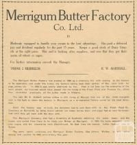 Merrigum Butter Factory Co Ltd, 1945