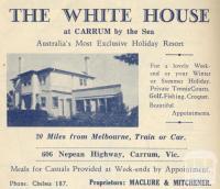 The White House, Carrum, 1949