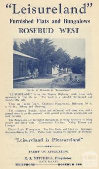 Leisureland, Rosebud West, 1949
