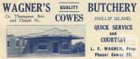 Wagner's Butchery, Cowes, 1949