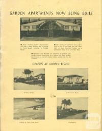 Garden apartments and houses, Golden Beach, 1965