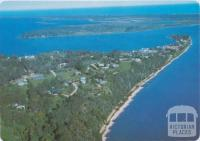 Metung township, lakes and ocean