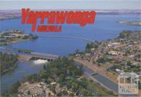 Aerial view of Lake Mulwala and Yarrawonga Weir on the Murray River