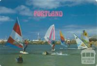 Sailboarding at Portland Town Beach