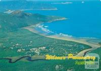 Aerial view of Tidal River Camping Area and Norman Bay, Wilson's Promontory