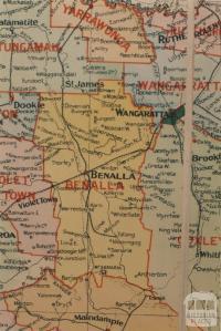 Benalla shire map