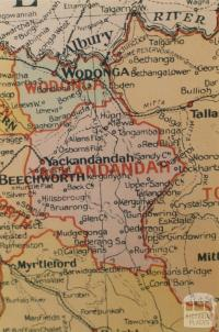Yackandandah shire map, 1924