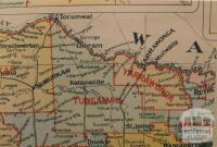 Tungamah shire map, 1924