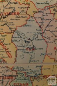 Yea shire map, 1924