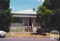 Bellair Street, house with cast iron balcony, Flemington, 2000