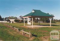 Diggers Rest: old school, Houdini monument, Caroline Chisholm shelter, 2002