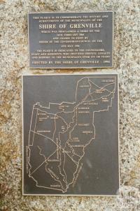 Grenville Shire plaque, Linton, 2002