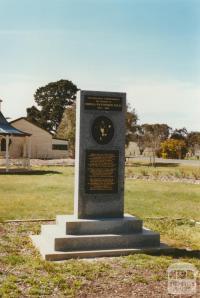 Moyston Monument to TW Wills, Australian Rules Football, 2002