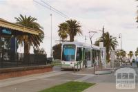 Tram at Port Melbourne station, 2004