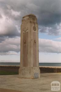 Bridge pillar, Victorian centenary, Beach Street, Port Melbourne, 2004