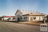 Brim hall (mud brick hall to right 1905-84), 2005