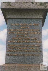 War memorial, Bowenvale, 2008