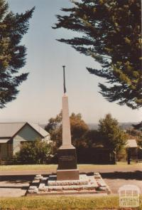 Beech Forest war memorial, 2009