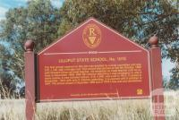 Lilliput State School sign, 2010