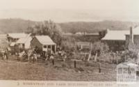 Homestead and farm buildings, Glen Iris, 1909