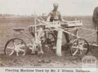 Planting machine used by Mr J Gibson, Dalmore, 1919