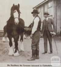 Governor of Victoria, Earl of Stradbroke at Werribee Experimental farm, 1922