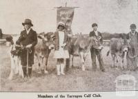 Yarragon calf club, 1931