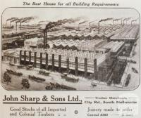 Advertisement, Timber Merchants, South Melbourne, Land Settlement in Victoria, 1920