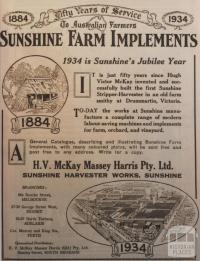 Sunshine Farm Implements, 1934