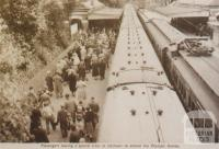 Passengers alighting at Jolimont to attend Olympic Games, 1956