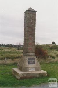 Gold discovery memorial (7 July 1851), Scenic Drive, Clunes, 2010