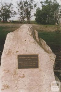 Plaque marking site of Antwerp State School, 2010