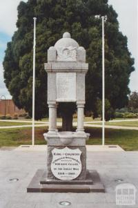 War Memorial, Bentleigh, 2010