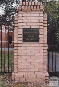 Bentleigh West School Memorial Gate, 2011
