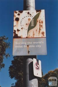 Melbourne Sign, Wellington Parade, Melbourne, 2012