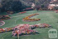 Kirks Reservoir, flower beds, Ballarat, 1980