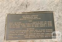 Dartmouth Dam plaque, 1980