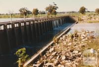 Weir, Wimmera River, Horsham, 1980