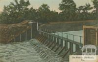The weir at Dimboola, 1908
