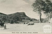 Rural scene and Mount Abrupt, Dunkeld, 1952