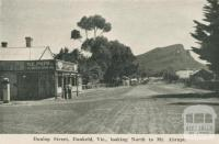 Dunlop Street Dunkeld, looking north to Mt Abrupt, 1952