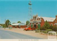 The fire station and RSL Hall, Eaglehawk