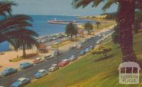 A general view of Eastern Beach, Geelong, 1960