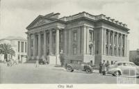 City Hall, Geelong, 1948