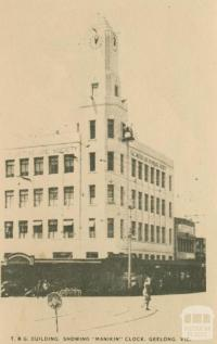 T.&G. Building showing 'Manikin' Clock, Geelong