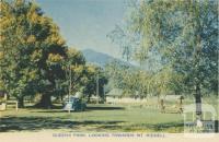 Queens Park, looking towards Mt Riddell, Healesville