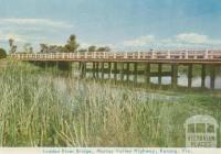 Loddon River Bridge, Murray Valley Highway, Kerang, 1965