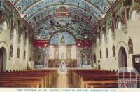 The interior of St Mary's Catholic Church, Bairnsdale